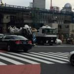 2015/05/22 渋谷でパトレイバーが運ばれていた