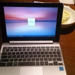 [PC購入レポ] ASUS ノートパソコン Chromebook Flip C100PA-RK3288 タッチパネル/10.1インチ/シルバー